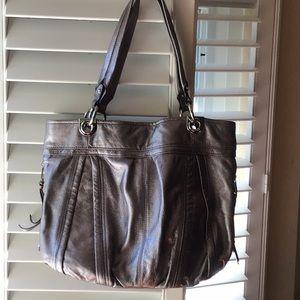 B Makowsky Silver bag